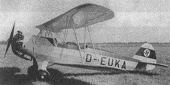 Учебный самолет фокке вульф fw 44 stieglitz
